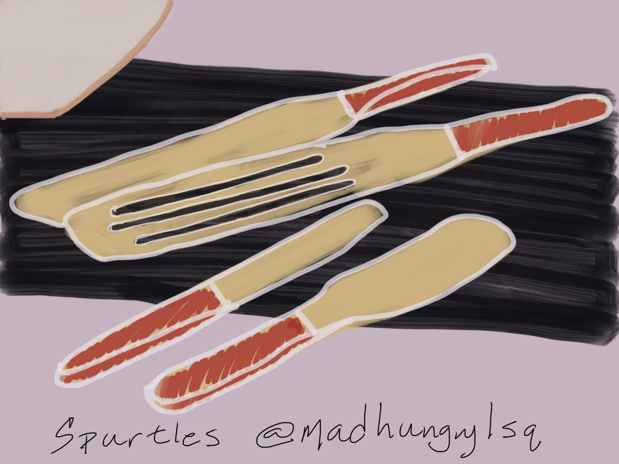 Spurtle drawing by Christine Chang Hanway