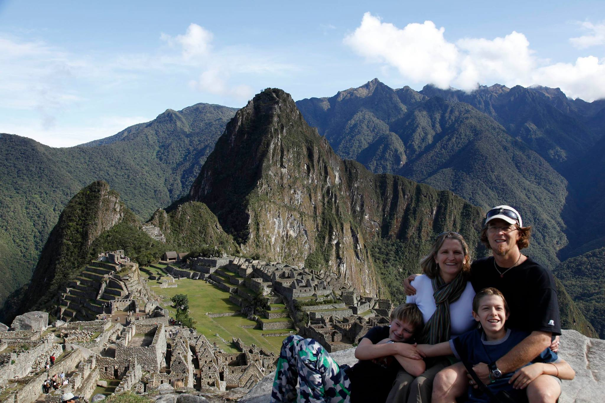 Family at Machu Pichu, Jeannie Ralston and family