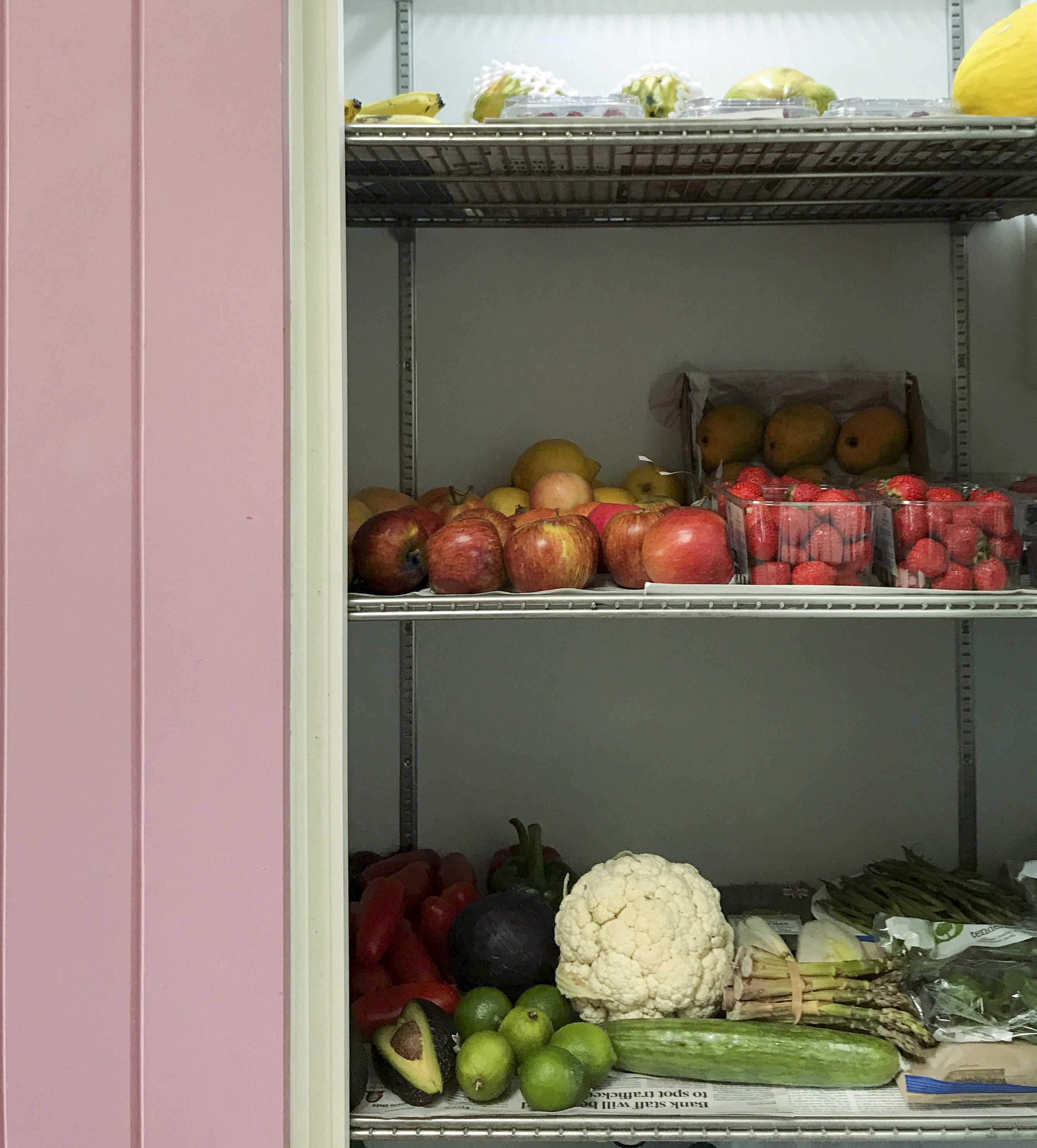 Refridgerator with fruits and vegetables