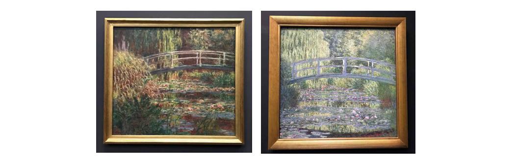 Monet's Le Bassin aux nymphéas harmonie rose and Le Bassin aux nymphéas harmonie verte