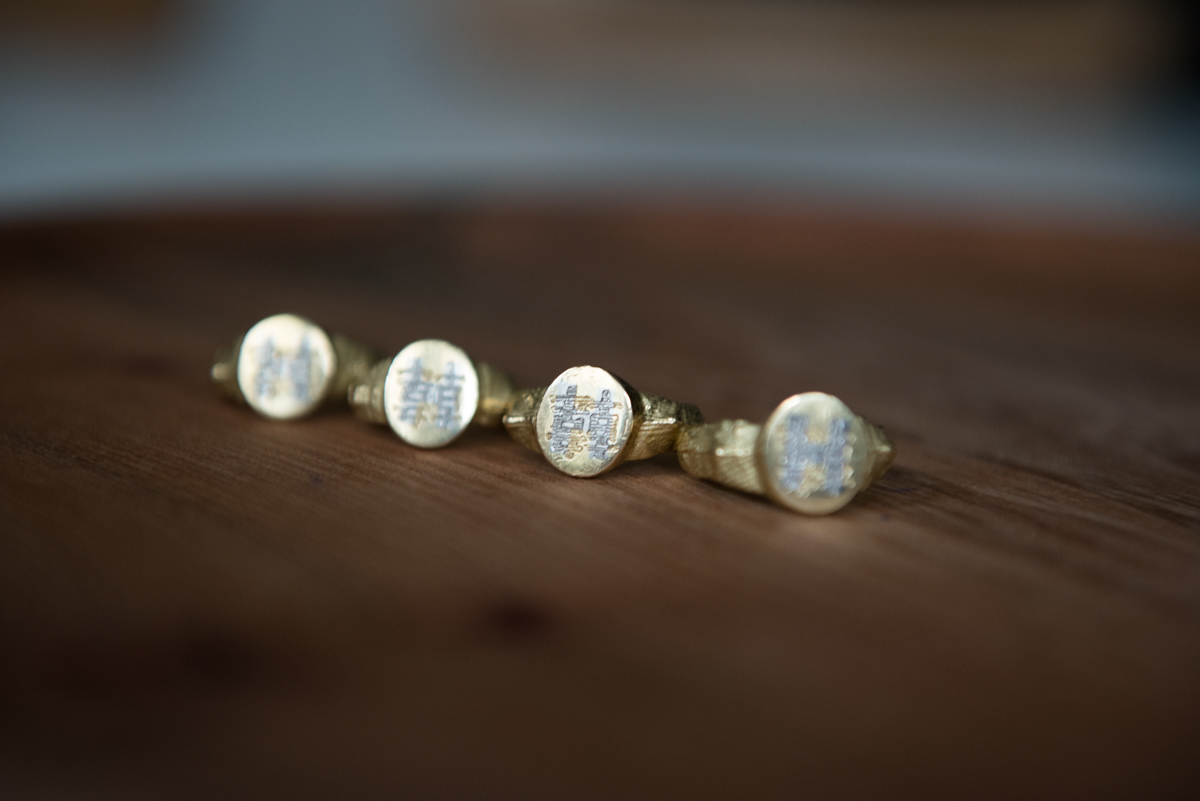 four gold signet ring, photograph by Fiona Bailey