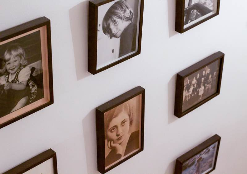 Novelist, Writer, Jane Mendelsohn at home, family photos on wall | Fabulous Fabsters