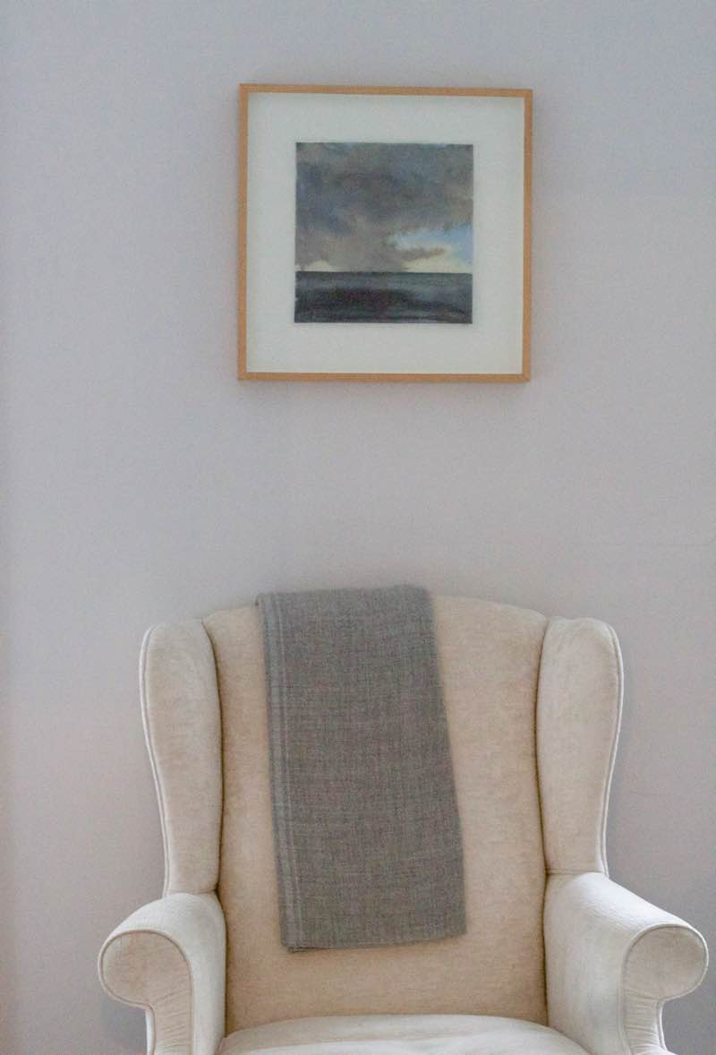 Novelist, Writer, Jane Mendelsohn at home, watercolour by Isabel Bigelow hangs above wing chair | Fabulous Fabsters