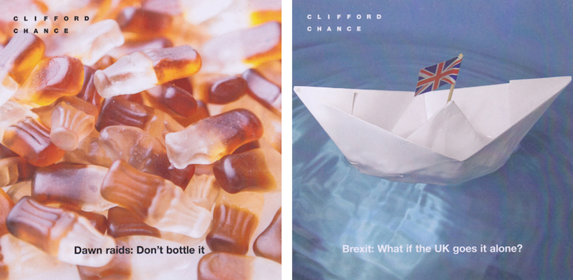 Clifford Chance Thought Leadership Initiative pamphlets | Fabulous Fabsters