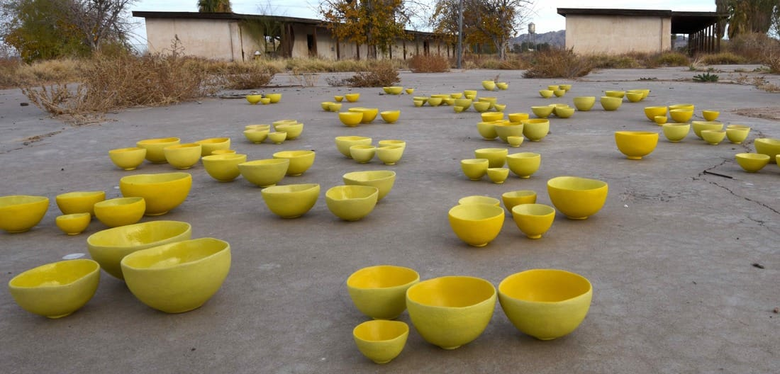 Yellow Bowl Project, Poston, Arizona, Setsuko Sato Winchester