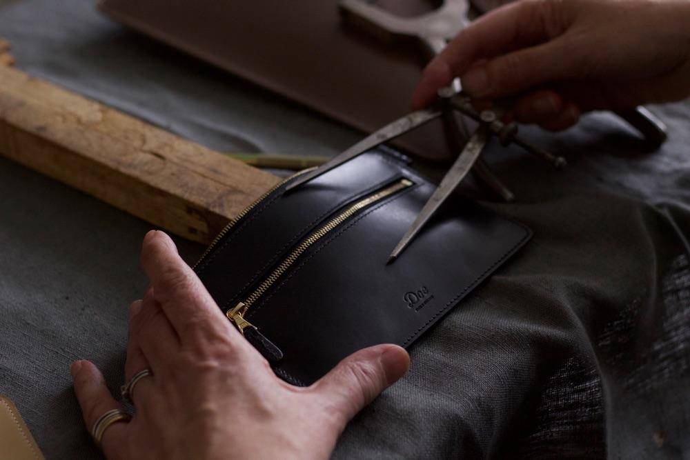 Two Zip Purse, Doe Leather