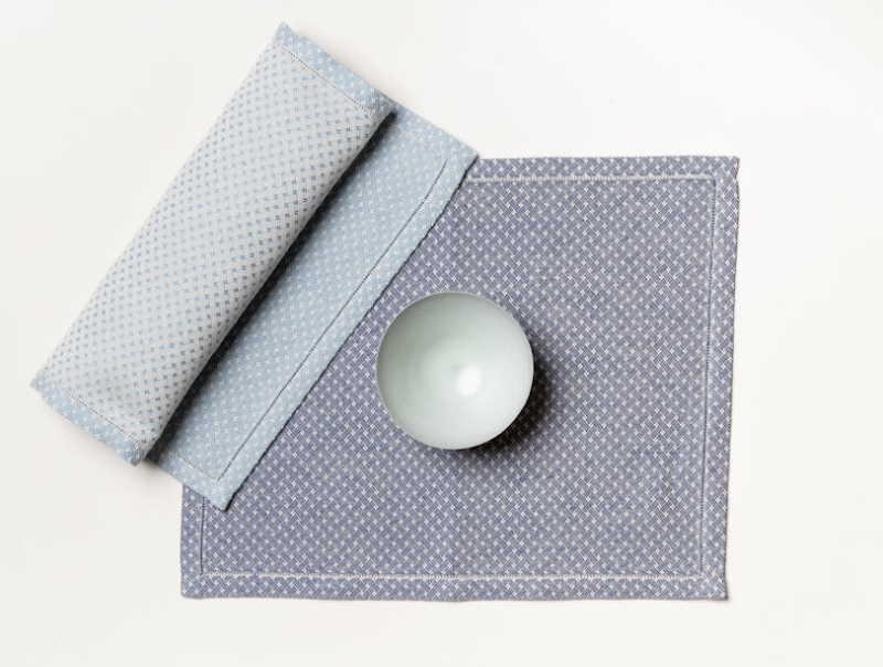 Blue Shibusa placemat by Chiaratella Cattana
