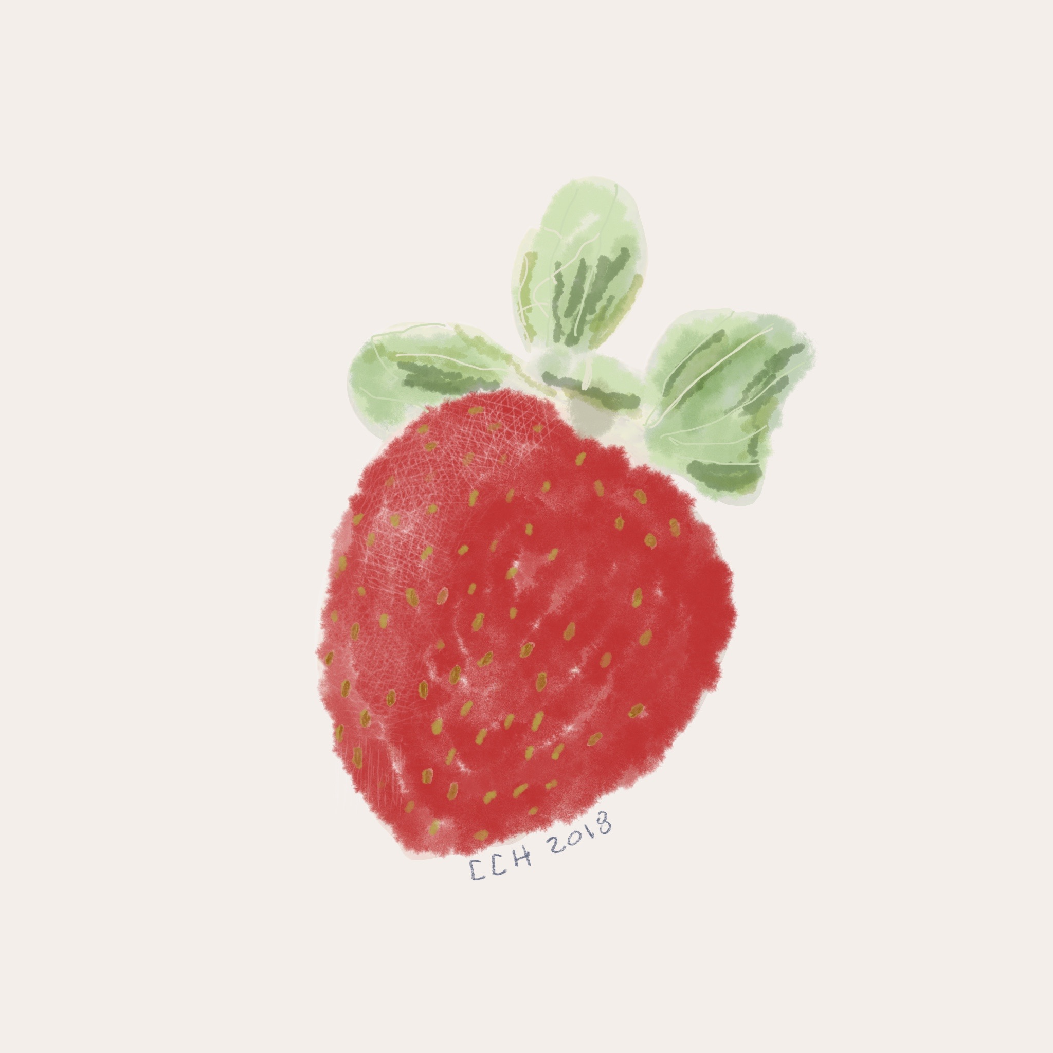 Watercolour Strawberry, organic buying