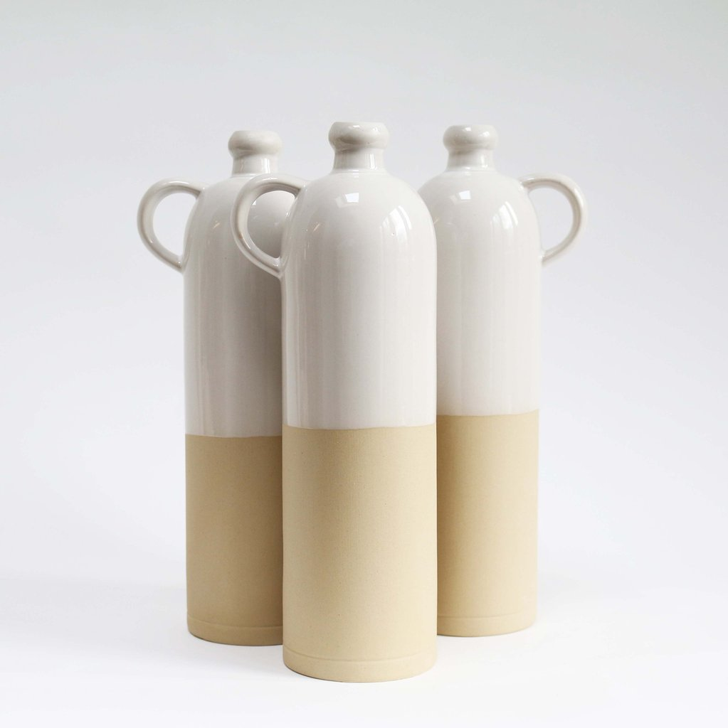 Stoneware Growler Bottle, Manufacture de Digoin, Know & Love