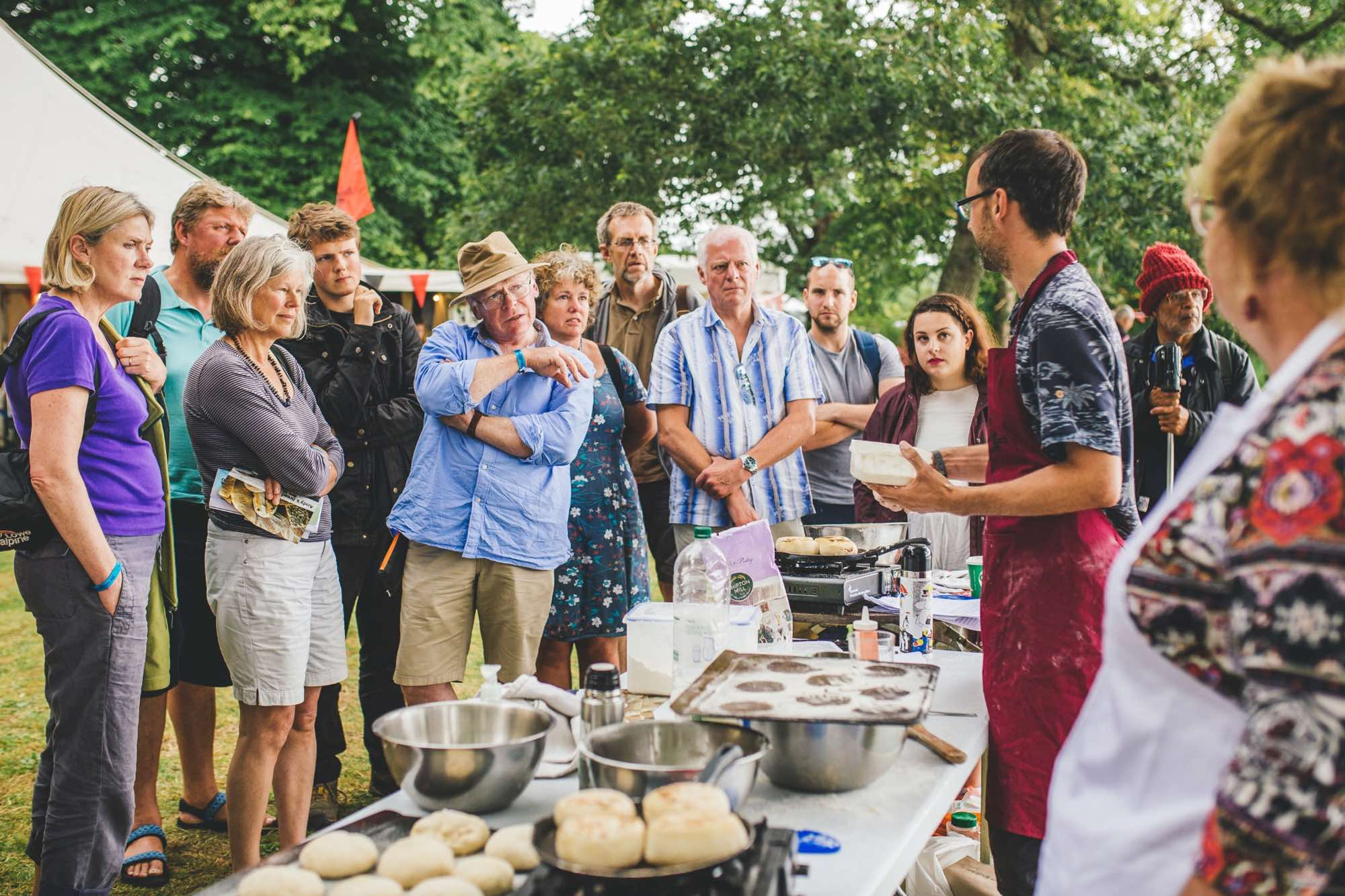Bread Making at Port Eliot Festival with The Idler Academy. Photograph by Louise Roberts.