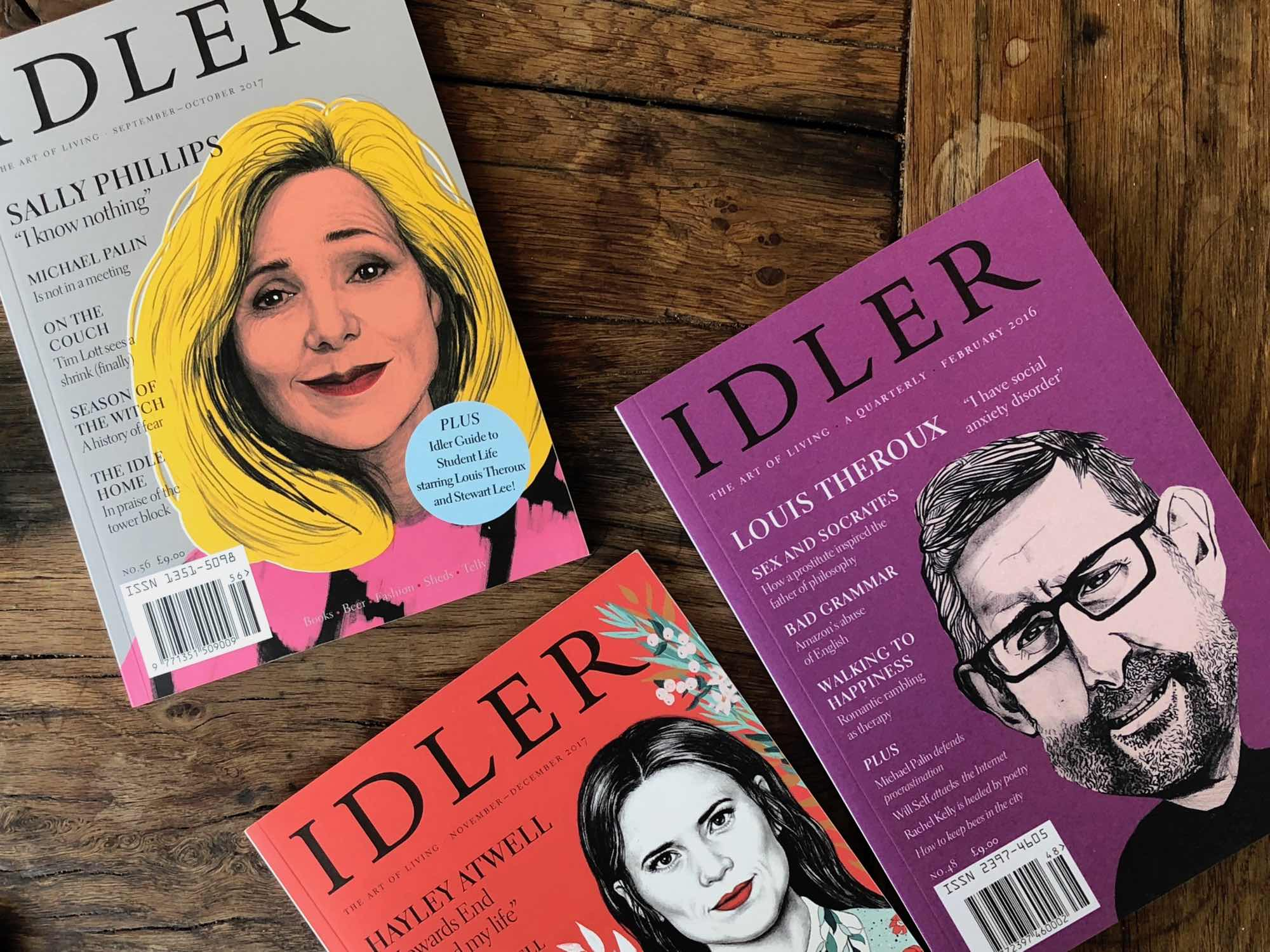 Idler Magazine covers with Louis Theroux, Sally Phillips, Hayley Atwell — Fabulous Fabsters