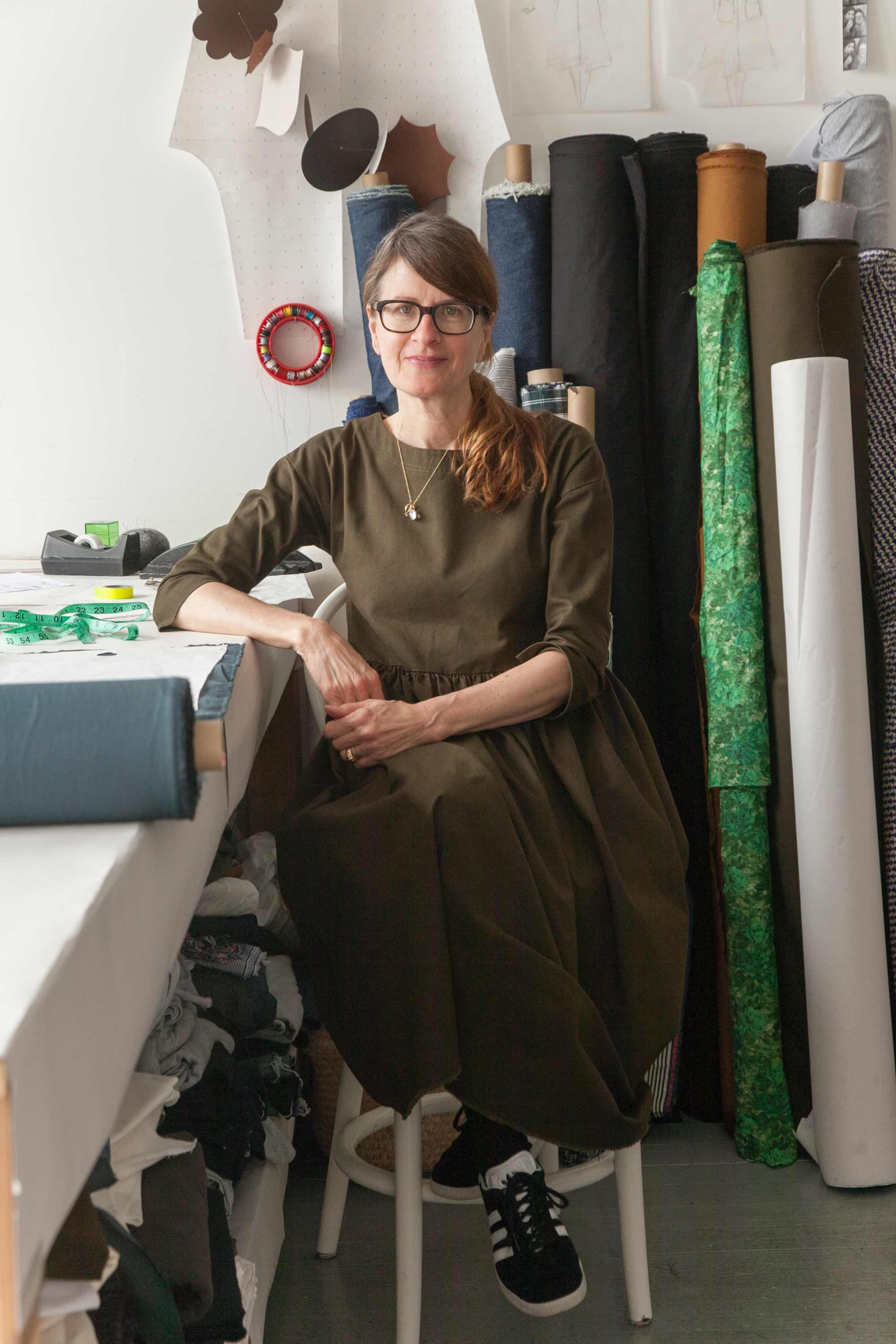 Heather Frazier of Frazier + Wing in her studio