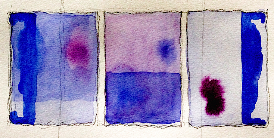 Purple and Sapphire Auras and Intentions Watercolour | My Contents Have Shifted
