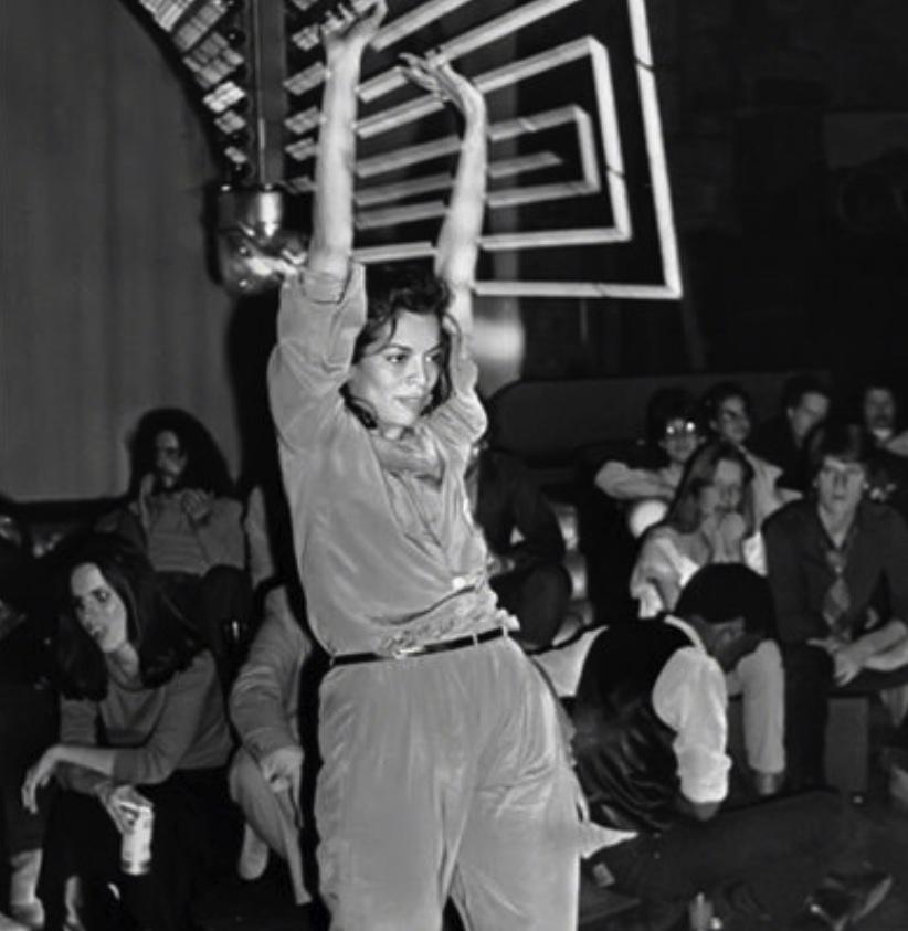 Bianca Jagger, Studio 54, jumpsuit, loungewear